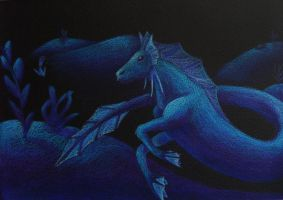 Hippocampus by LadyCelyn