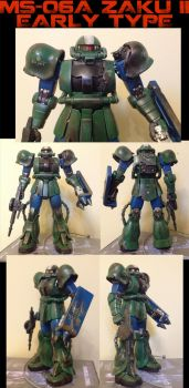 MS-06A Zaku II Early Type by megamike75