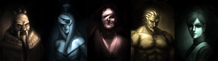 Kages of the 5 Countries by Roggles