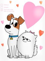 The Secert Life of Pets: Max and Gidget by SkyfallerArt