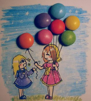 Balloon Children by FabulousChibitalia