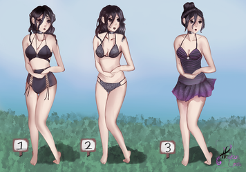 Oka Ruto Swimsuit Concepts! by HalanLore