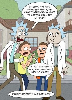 Rick And Morty Universes by pythonorbit