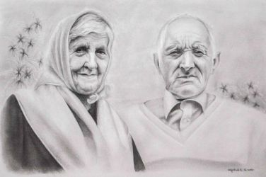 Old couple by keiraono