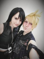 Prompto and Tifa by ladylucienne
