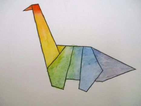Cute Little Origami Dinosaur Tattoo Designs Tattooimages Biz