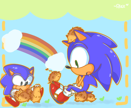 Hedgehogs, hedgehogs everywhere by chibiirose