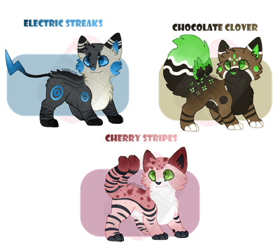 OPEN - Kitty Adoptables [3/3] by fedora-adopts