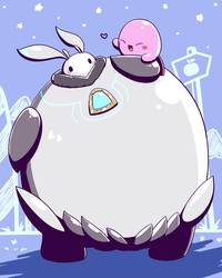Boreas and Kirby by aquabluu