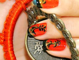 Nail Art - Chi-Pao II by bluenotes