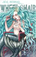 A Real Mermaid Needs A Wheelchair by DibuMadHatter