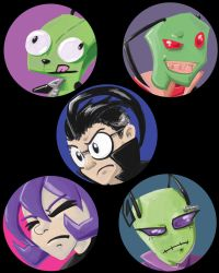 Zim buttons! by ladylaguna