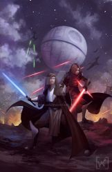 Commission: Alliance of Light and Darkness by KiraLNG
