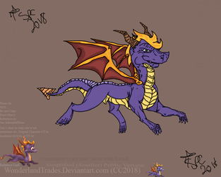 Spyro - The Dragon [Non-profit - Fan-Art FOR FUN!] by WonderlandTrades