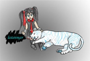 Girl and Tiger by casinuba