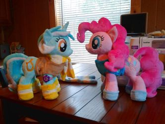 Pinkie Pie And LyRa Plushies MLP:FIM by PoNyePiC