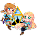 Link+Zelda: BREATH OF THE WILD by Nikowise