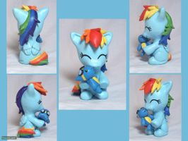 Filly Rainbow Dash Sculpture by CadmiumCrab