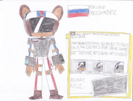 russain soldier in animals of the agents by Dustyamigoking