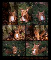 FOR SALE Plushie: Marron the Red Squirrel by Avanii