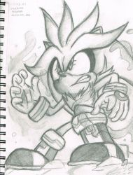 [SKETCHES] Silver The Hedgehog by TheNinToaster