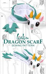 Haku Dragon Scarf Sewing Pattern by SewDesuNe