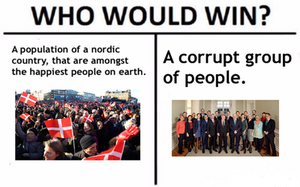 Who would win meme (population Vs Government) by trainnerdFromDenmark