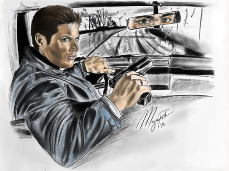 Supernatural Dean Winchester On The Prowl by MeganzMonkeyBusiness