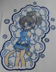 Art Trade: Andrea In Chinese Dress (Colored) by DarkTomboy66GUN