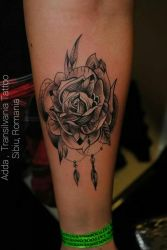 rose tattoo by transilvaniatattoo66
