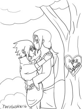 Kissing In The Forest -Outline- by narusasulover16