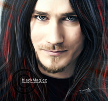 Tuomas Holopainen (Nightwish) painting by perlaque