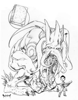Howard Lovecraft and Friend by Dubisch