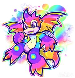 Neopets: Rainbow Scorchio by Gullacass