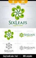 Six Leafs - Logo Template by doghead