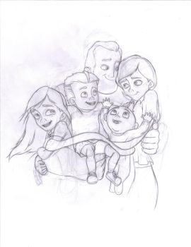 Incredible Family Photo by Violet-Parr