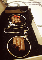 Chocolate earrings by SteamBerry