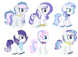 CMSF - Fancy Pants x Fleur De Lis x Rarity[CLOSED] by Pikadopts