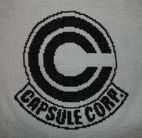 Capsule Corp Cross Stitch by TheSkandranon