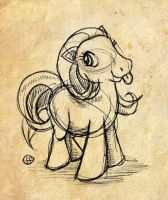 Pony sketch by fabianfucci