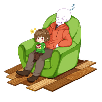 Underswap! Chara and Papyrus by mintdesco