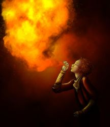Fire eater by Prince-Hip