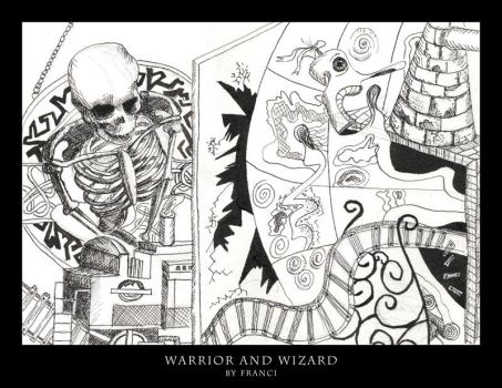Warrior And Wizard by franciart