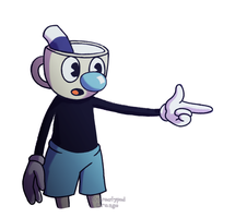 Mugman fanart by Stereotyped-Orange