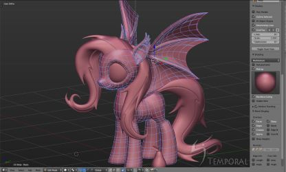 Flutterbat 3d downloadable (blend file) by Temporal333
