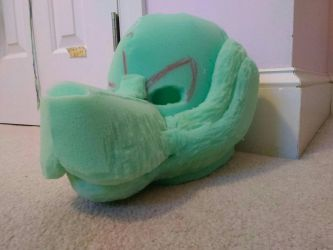 fursuit head WIP picture #3 by MCSpiritWolf