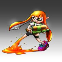 Inkling Girl - Splatoon by TheKid221