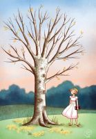 Girl and tree by roby-boh