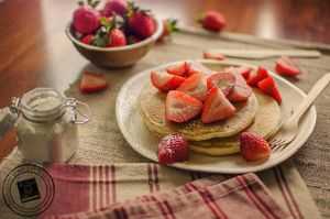 Strawberry Pancakes by mariesturges