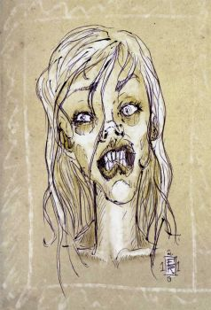 Zombie girl by insp88